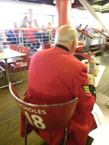 Opa in coffee shop